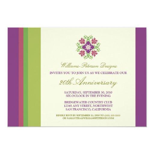 Colorful Bands Corporate Event Invitation (purple)