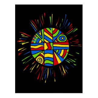 Colorful bang postcard