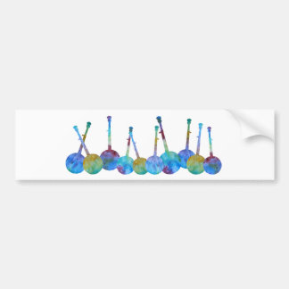 Colorful Banjo String Bumper Sticker