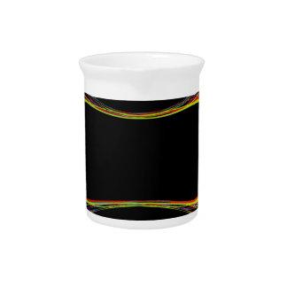 Colorful banner beverage pitcher