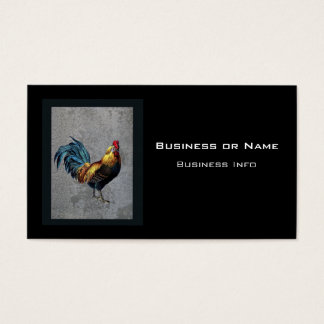 Colorful Bantam Rooster Business Card