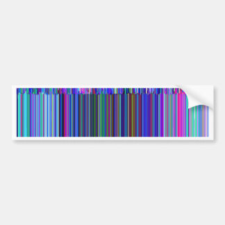 "Colorful ""barcode"" , made from blue stripes car bumper sticker"