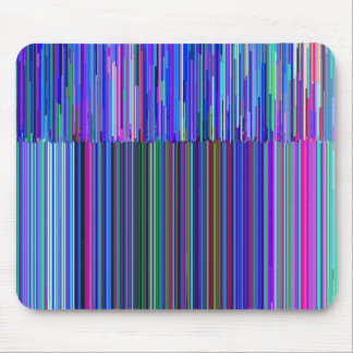 """Colorful """"barcode"""" , made from blue stripes mouse pad"""