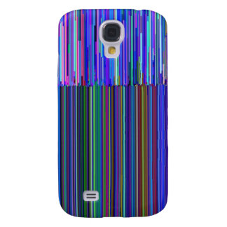 """Colorful """"barcode"""" , made from blue stripes samsung galaxy s4 case"""