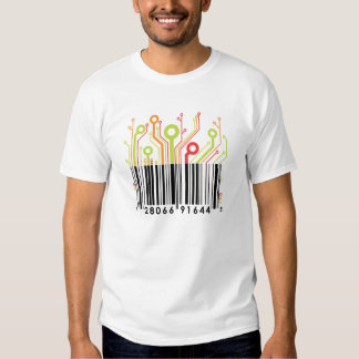 Colorful barcode tees