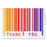 Colorful Barcode Thank You Note Card