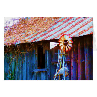 Colorful Barn Card