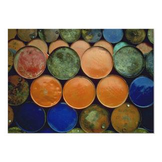 Colorful Barrels Custom Invitations