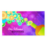 Colorful Bartending Business Card Template