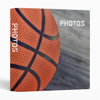 "Colorful Basketball Wraparound 1"" Photo Album 3 Ring Binder"