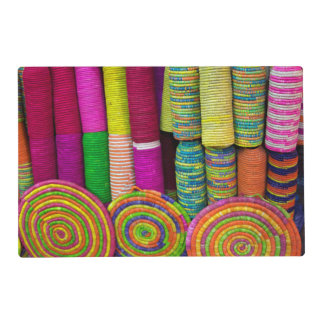 Colorful Baskets At Market Placemat