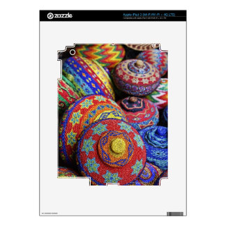 Colorful baskets made from colored plastic beads iPad 3 decal