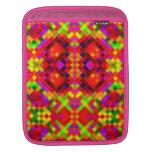 Colorful Basketweave Pattern Rickshaw Sleeve iPad Sleeves