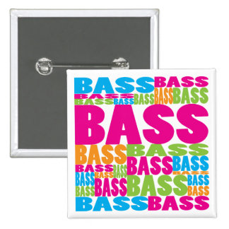 Colorful Bass 2 Inch Square Button
