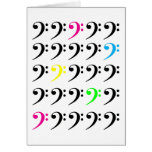 Colorful Bass Clef Card