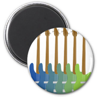 Colorful Bass Guitars Magnet