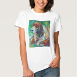 Colorful Basset Hound T-shirt