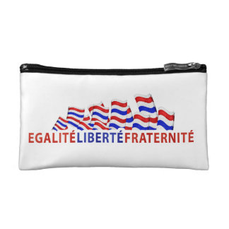 Colorful Bastille Day Design Cosmetic Bag