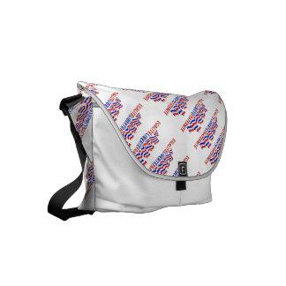 Colorful Bastille Day Design Small Messenger Bag