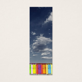 Colorful bathing huts bookmark business card
