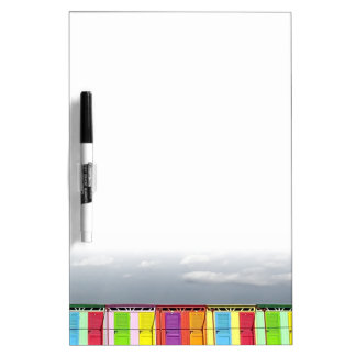 Colorful bathing huts Dry Erase Board