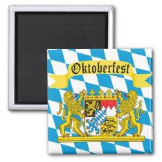 Colorful Bavarian Flag Oktoberfest Magnet at Zazzle