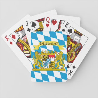 Colorful Bavarian Flag Oktoberfest Playing Cards