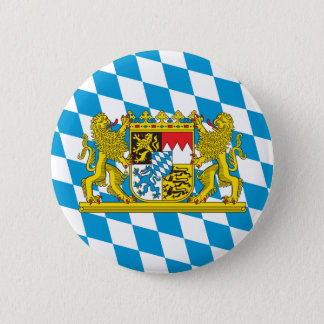 Colorful Bavarian Flag Pinback Button