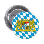 Colorful Bavarian Flag Pinback Button