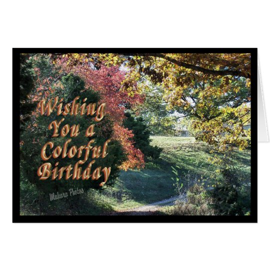 Colorful Bday Card-customize it Card