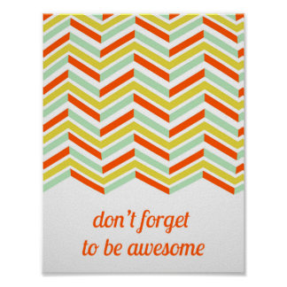 Colorful Be Awesome Poster