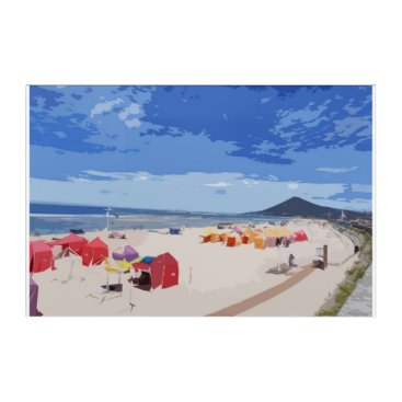 Colorful beach acrylic print