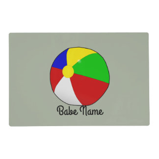 Colorful beach ball placemat