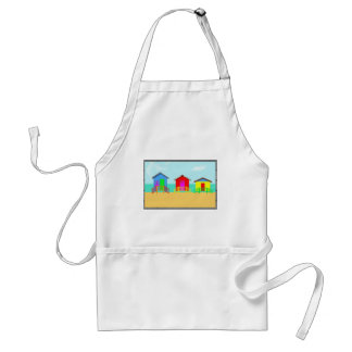 Colorful Beach Cabanas at the Shoreline Adult Apron