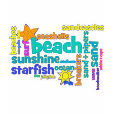 Colorful Beach Favorites Text Design shirt