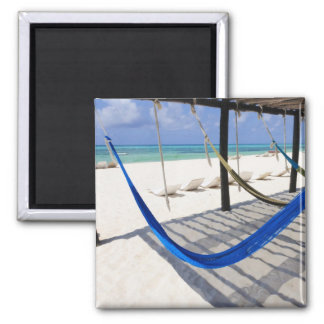 Colorful Beach Hammocks Cozumel Mexico Magnet