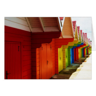 Colorful Beach House Dressing Rooms Notecards Card