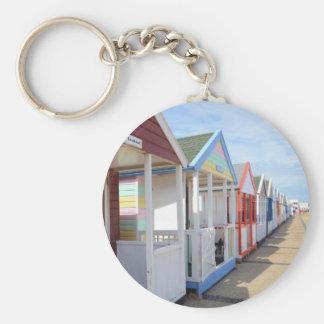 Colorful Beach Huts Keychain