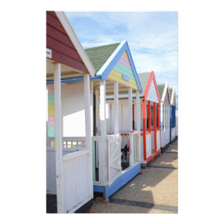 Colorful Beach Huts Stationery