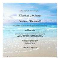 Colorful Beach or Destination Wedding Invitation