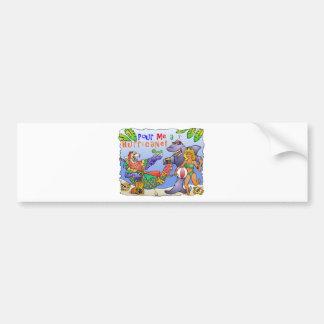 Colorful beach party design. car bumper sticker