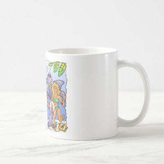 Colorful beach party design. coffee mug