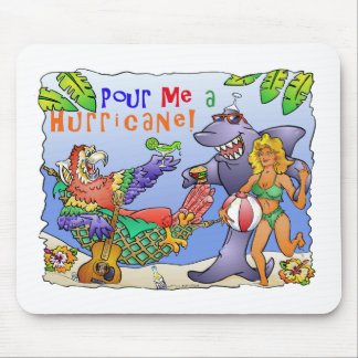 Colorful beach party design mouse pads