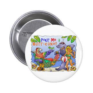 Colorful beach party design. pinback button