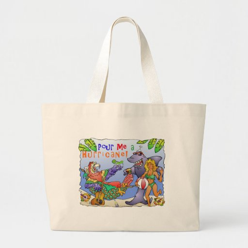 Colorful beach party design. tote bag