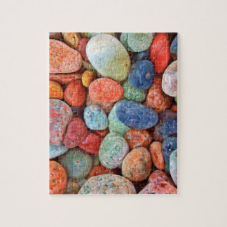 Colorful Beach Pebbles Smooth Stones Rocks Pattern Jigsaw Puzzle