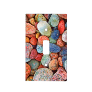 Colorful Beach Pebbles Smooth Stones Rocks Pattern Light Switch Cover