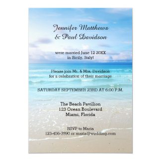 Post Wedding Reception Invitations Beach Only Party Australia