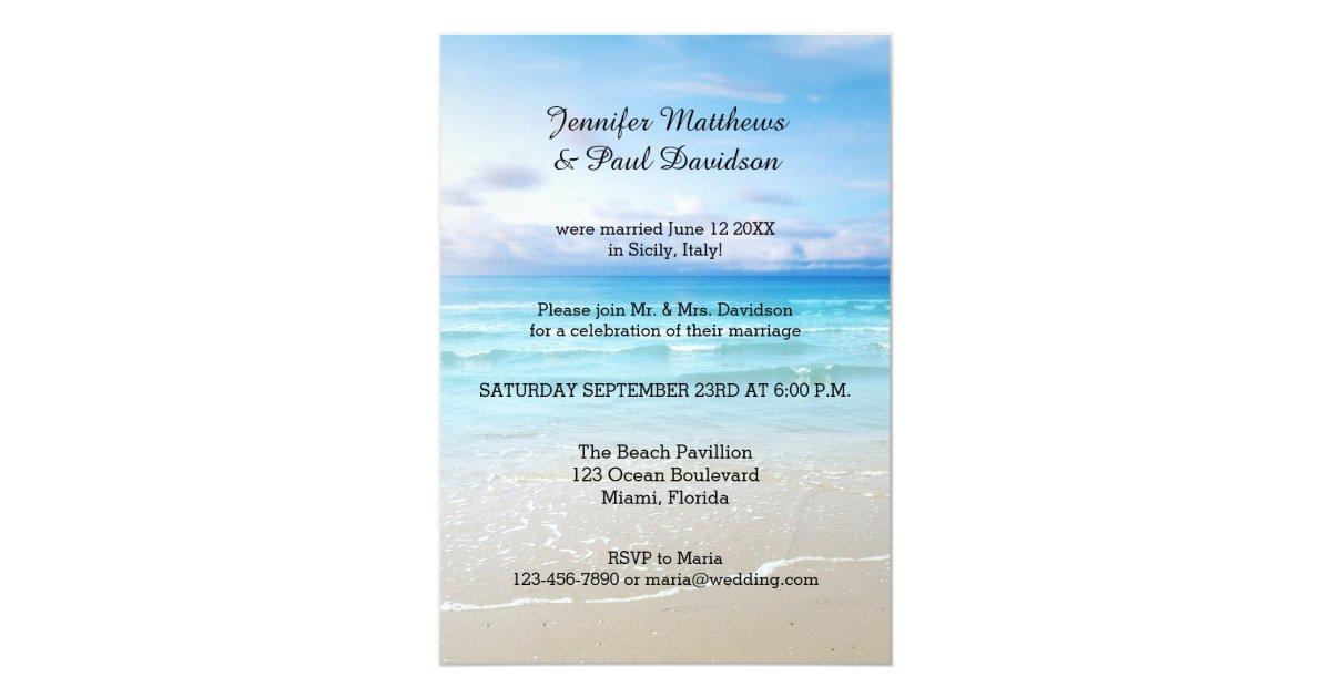 Colorful Beach Post Wedding Party Invitation | Zazzle.com