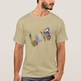 Colorful Beach Sand Dollar Love T-Shirt